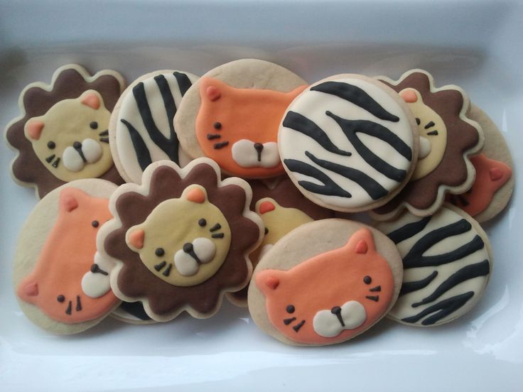 Safari, animal print, cookies, biscoitos decorados | by Cookie Design