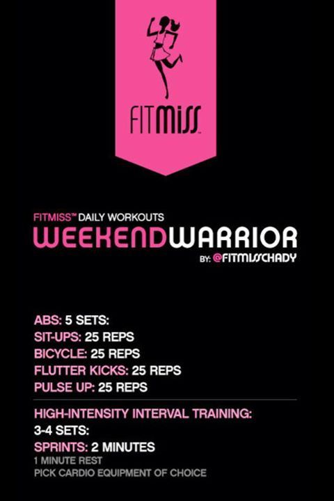 FitMiss Weekend Warrior Workout