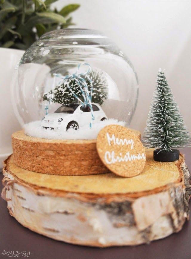 DIY decoração de natal - globo de neve - The Blue Post                                                                                                                                                     Mais