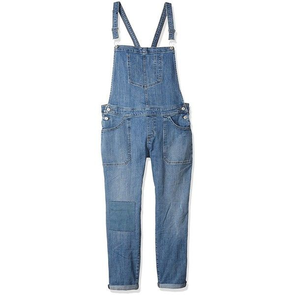 Levi's Women's Legacy Surplus Overall ($49) ❤ liked on Polyvore featuring jumpsuits, bib overalls, blue jumpsuit, overalls jumpsuit, blue bib overalls and levi overalls