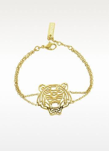 KENZO Gold Plated Tiger Bracelet. #kenzo #gold plated tiger bracelet