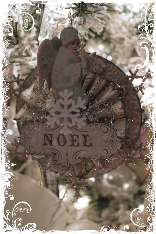vintage ornaments - I could do this with SB supplies, not just for ornaments but for table decors.