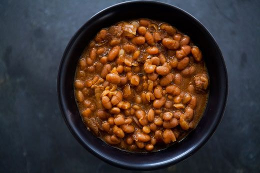 Boston Baked Beans Trying this version with 1/4 cup honey, powdered mustard, allspice and extra bacon fat instead - well see how it goes!