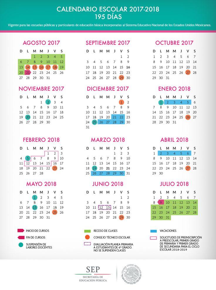 Calendario escolar para el ciclo escolar 2017 - 2018 | Apoyo Primaria