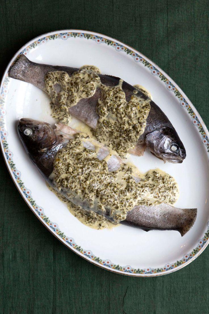 german Trout in Sorrel Sauce (Forelle mit Sauerampfersosse)