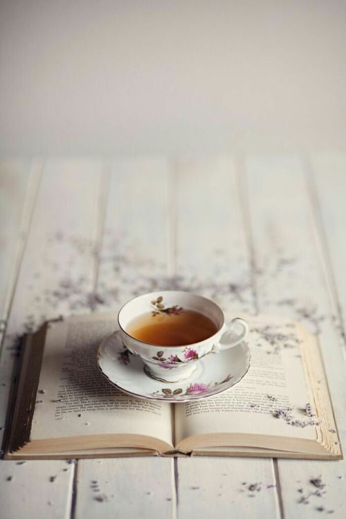 The simplicity of tea and a book....going to read so much more for my minds sanity.