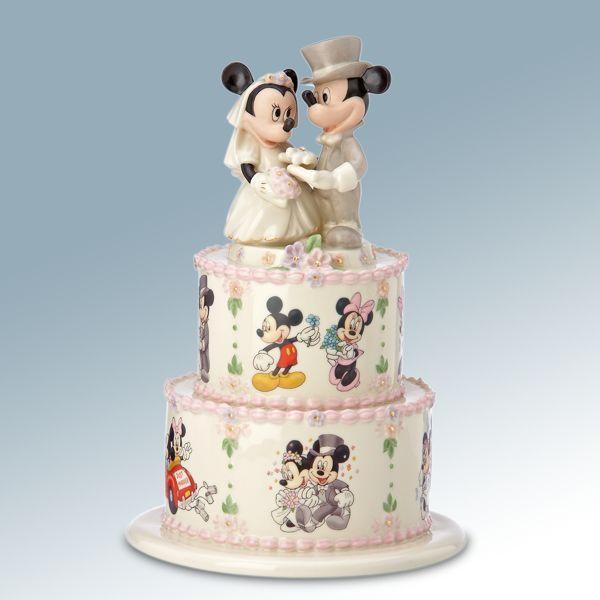 Disney Fantasy Wedding Cakes | Disney's Minnie's Wedding Day Wishes Figurine by Lenox