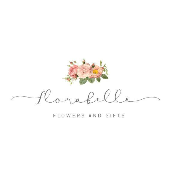 Premade Florist Logo Florist Logo Design By SunnyBlossomDesigns