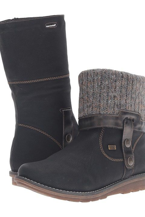 Rieker R1071 Shanice 71 (Schwarz/Antik/Graphit) Women's  Boots - Rieker, R1071 Shanice 71, R1071-001, Footwear Boot Comfort, Comfort, Boot, Footwear, Shoes, Gift, - Street Fashion And Style Ideas