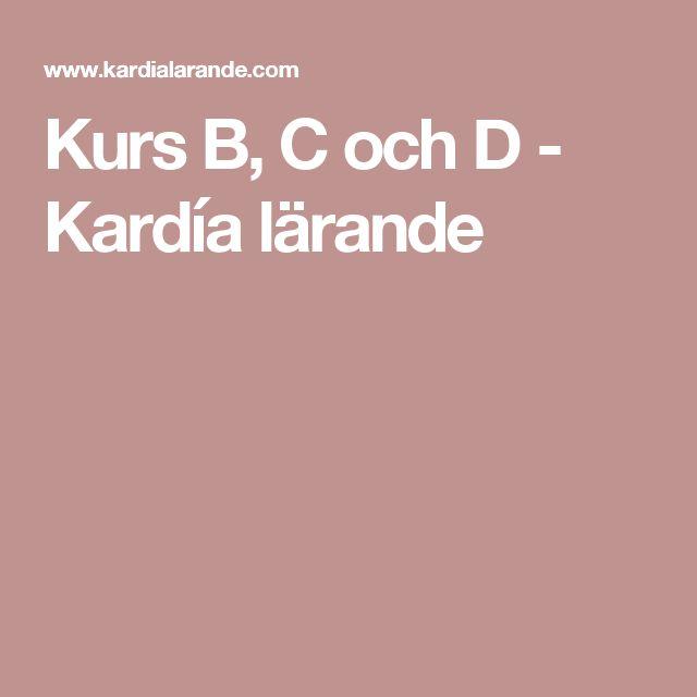 Kurs B, C och D - Kardía lärande