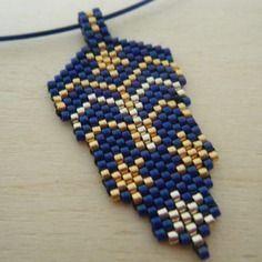 Prix rond - pendentif tissé main perles miyuki sur tour de cou