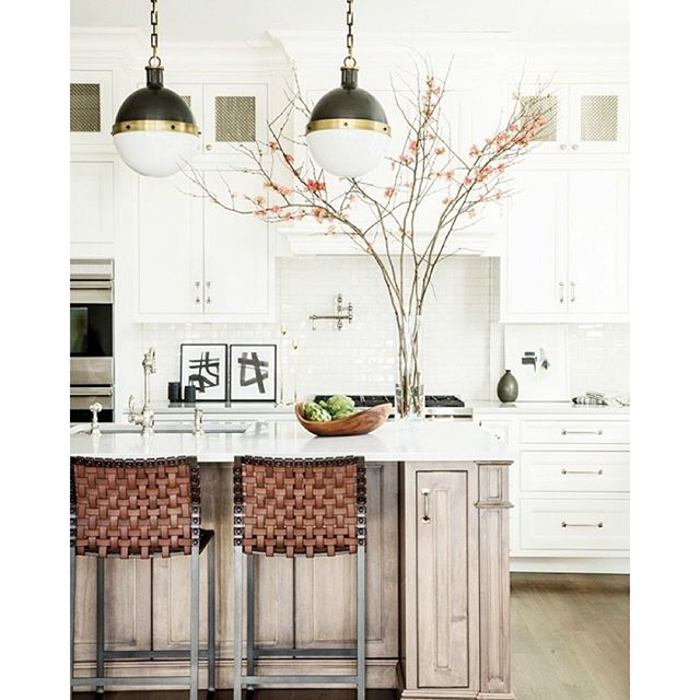 project on @mydomaine by @rcstudio_ woven leather counter stools @suiteny