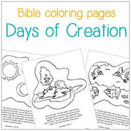Bible Coloring Pages Days Of Creation Daniel In The Lions Den Fruits