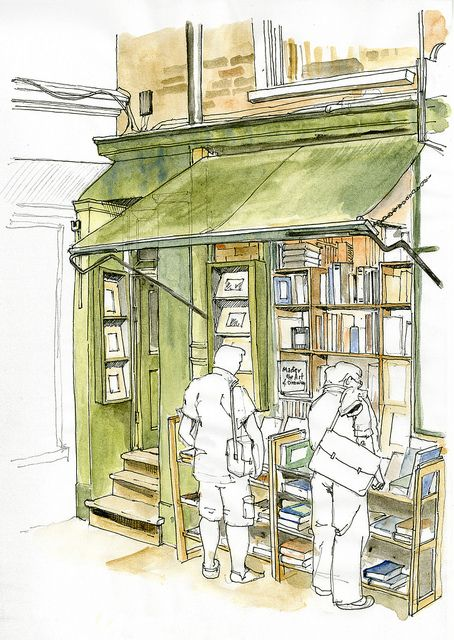 Minster Gates Book Shop colour   Flickr - Photo Sharing!