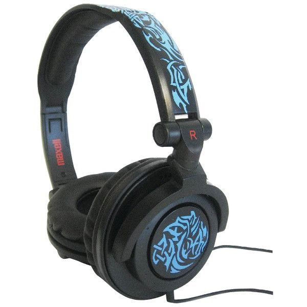 Maxell 190265 - Ampb Amplified Heavy Bass Headphones (Blue Tribal)