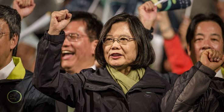 Tsai Ing-wen is the first woman to hold the office. 