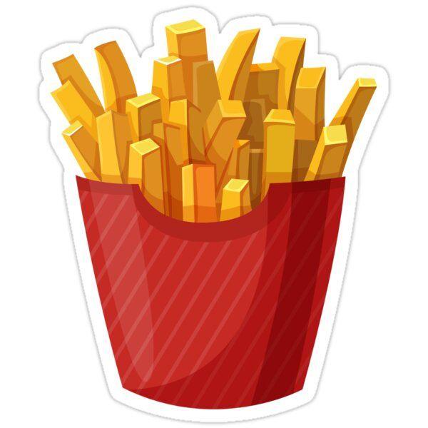 French Fries Graphic Sticker By Sylviebinder Em 2021 Adesivo Para Latinha Desenho De Hamburguer Batata Desenho