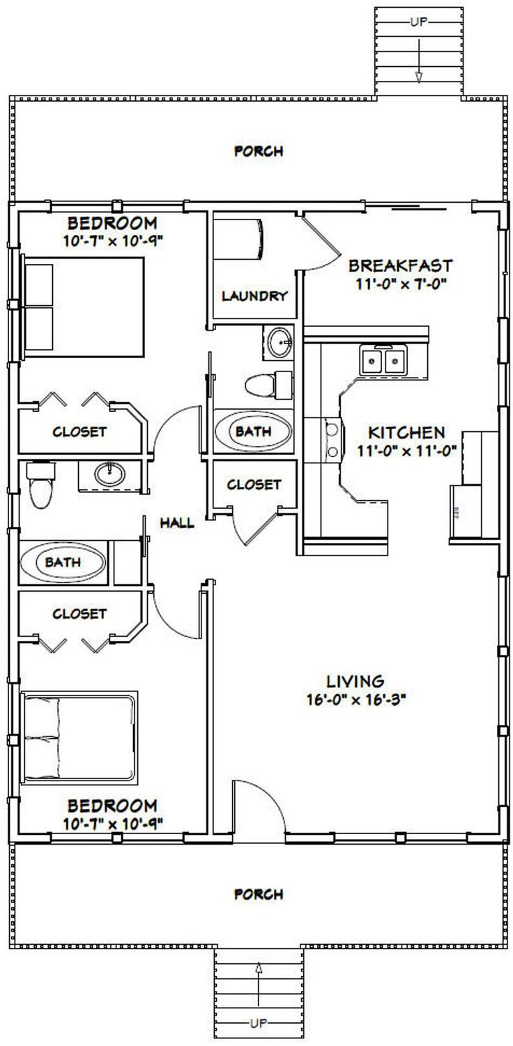 28x36 House 2Bedroom 2Bath 1,008 sq ft PDF
