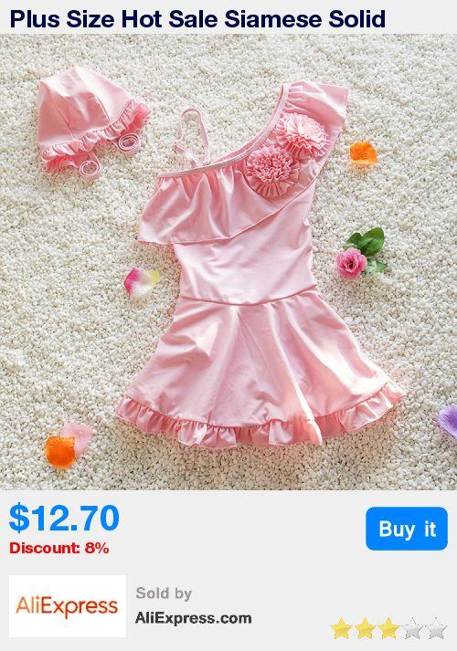 Plus Size Hot Sale Siamese Solid Children Bathing Suit 2017 Summer Baby Girls Bikini Mode Kawaii Swimming Suit M- 4XL with Cap * Pub Date: 20:37 Jul 9 2017