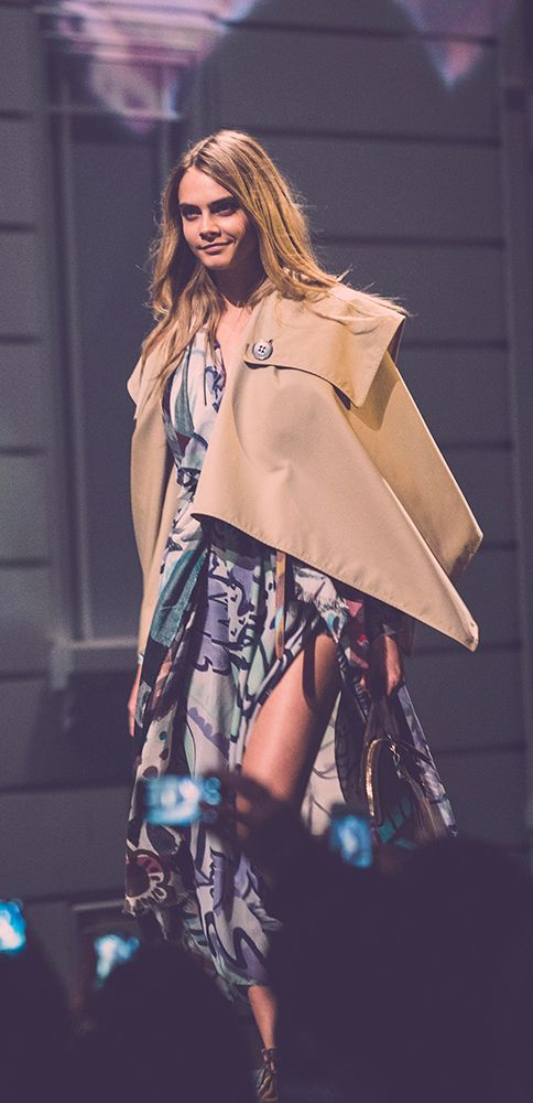 Cara Delevingne on the A/W14 runway in Shanghai
