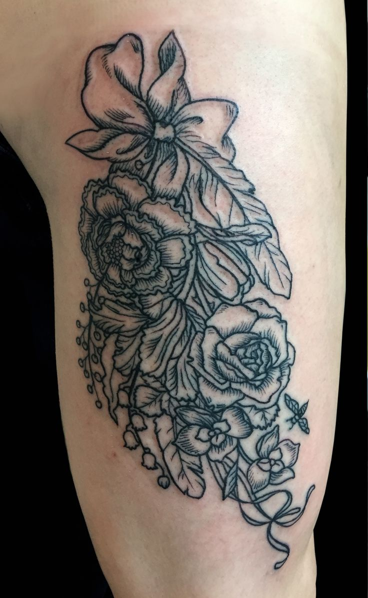 Best 20 white flower tattoos ideas on pinterest black flower black and grey bouquet tattooed by kendal at damask tattoo in seattle wa flower tattoo black and grey flowers black and white flowers tattoo dhlflorist Images