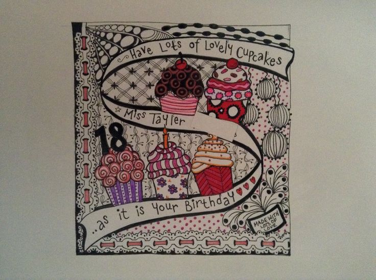 25 best Cards images – Doodle Birthday Card