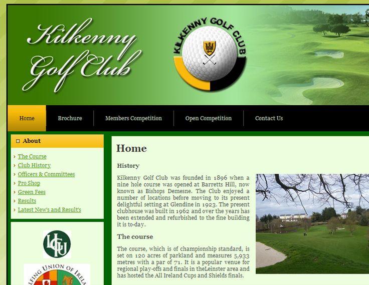 Kilkenny Golf Club - web development - Brand You