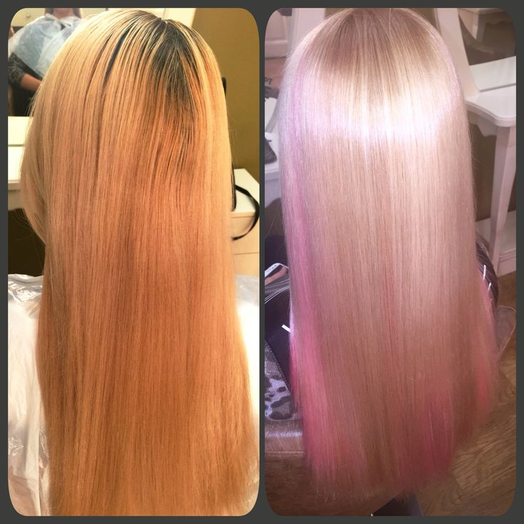 Pearl Blond with a touch of Pink