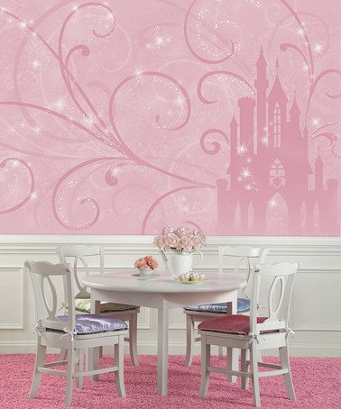 Loving this Pink Princess Castle Wall Mural on #zulily! #zulilyfinds