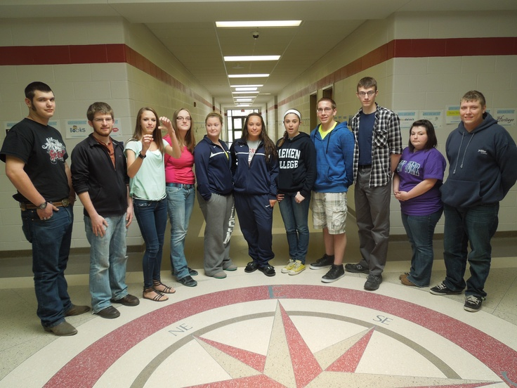 Red Creek High School (N.Y.) students thought that posing near the Compass Rose suggests the powerful way King's ideas in the letter influenced people around the world...his legacy continues to inspire people and nations from all four directions.