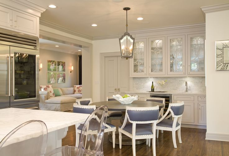 Delightful kitchen by Austin Bean Design Studio. Love the dining chairs!