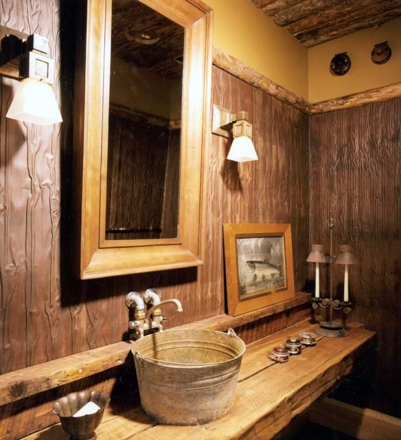 Wow! This is a serious rustic sink.