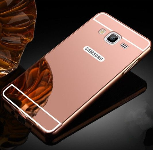 Electroplating Aluminum Acrylic Mirror TPU Phone Case For Samsung Galaxy On5 G550 On7 G600 Protective Cover For Galaxy On 5 7