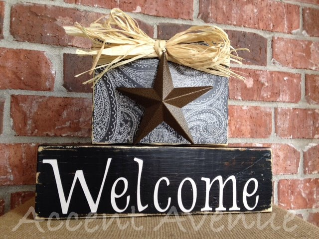Welcome Texas Home Decor Blocks Via Etsy Decorating Pinterest Texas