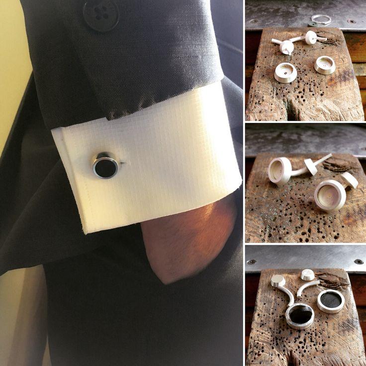 Gemelos de plata con ébano :)