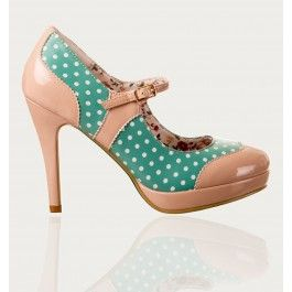 Chaussures Escarpins Pin-Up Rockabilly 50's Mary Jane Pois Polka