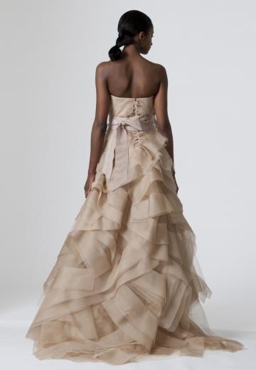 Traîne moyenne Sans bretelles Zip Robes de mariée 2014
