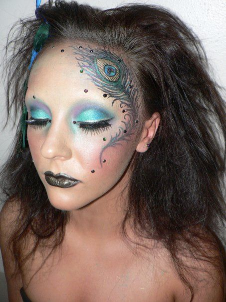 http://www.tumblr.com/blog/cosmeticme - Not too over the top, and fantastic detail. Also, Peacock makeup is my favorite.