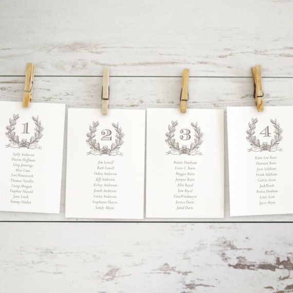 37 best Wedding Place Cards \ Seating Charts images on Pinterest - wedding chart