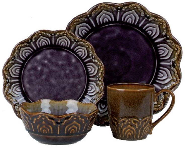 Morocco 12 pc Dinnerware Set, Purple | Dinnerware | Cook2Dine.com