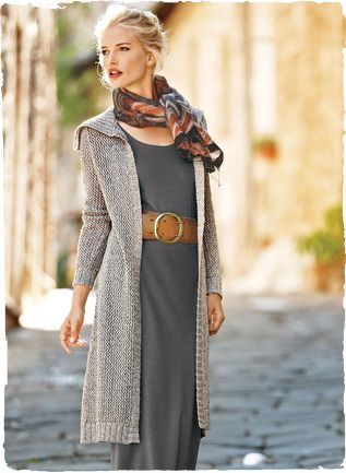 Grey dress & long cardigan