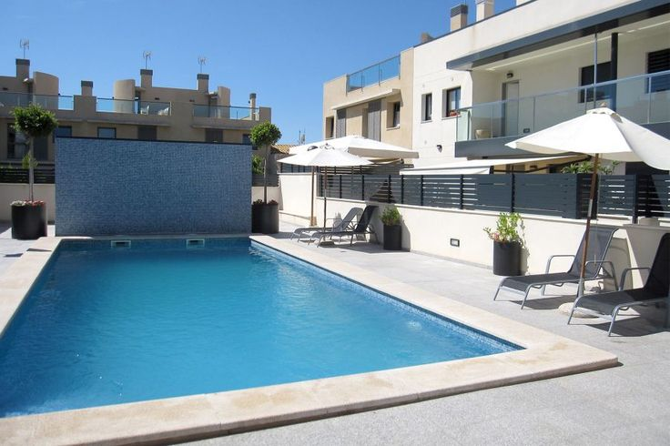 Portixol/ Es Molinar, Palma de Mallorca: Modern penthouse with roof terrace, pool and parking in Molinar