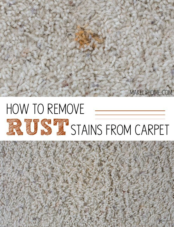 How to remove rust on carpet via MakelyHome.com - I tried everything I read on the internet and figured out what worked best!