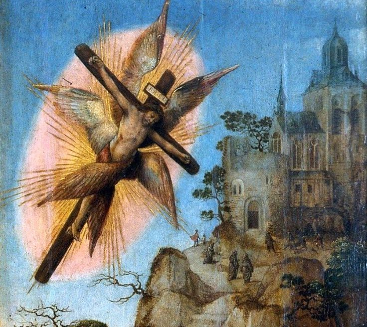 Stigmata Vision (From the Baptism of Christ Triptych by the Master of Frankfurt)