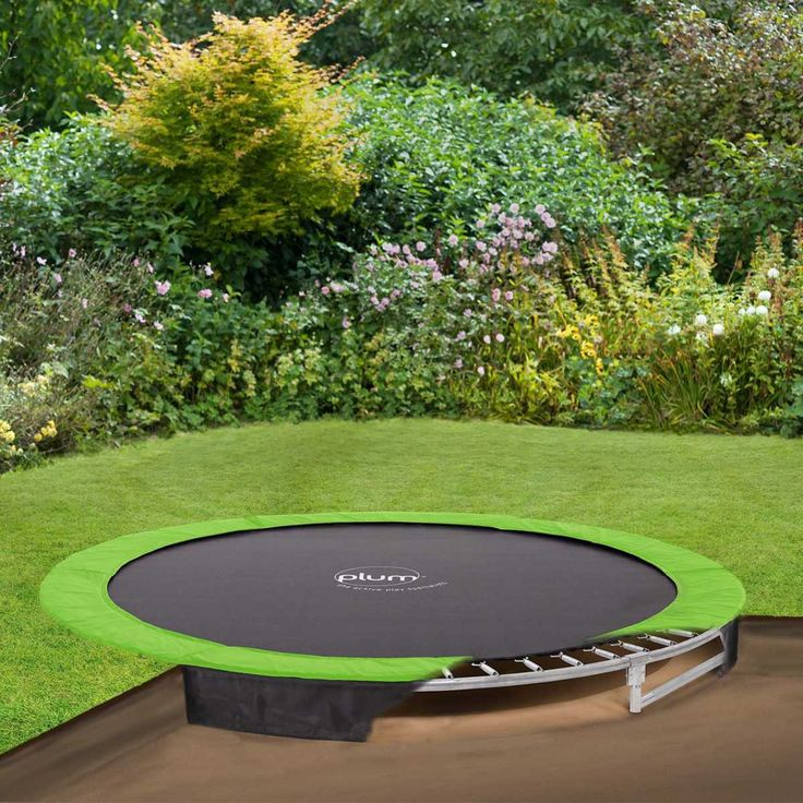 how to put a trampoline underground