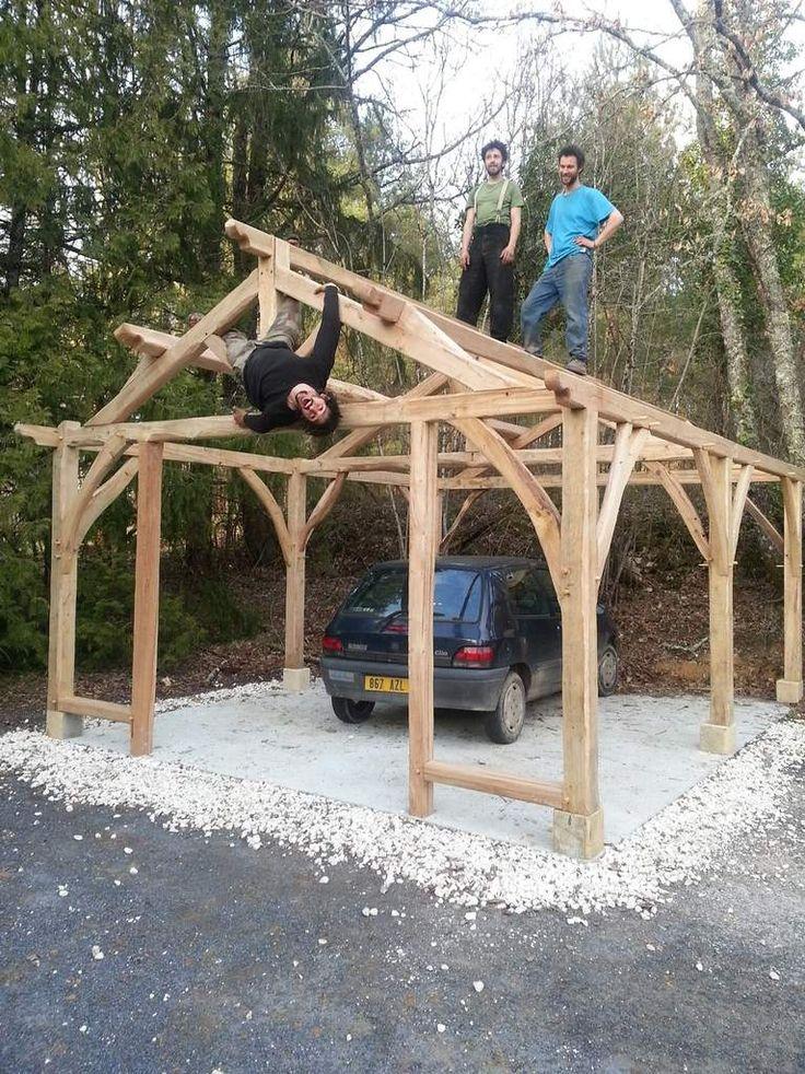 11 best images about abris voiture et carport en bois on for Garage abri bois