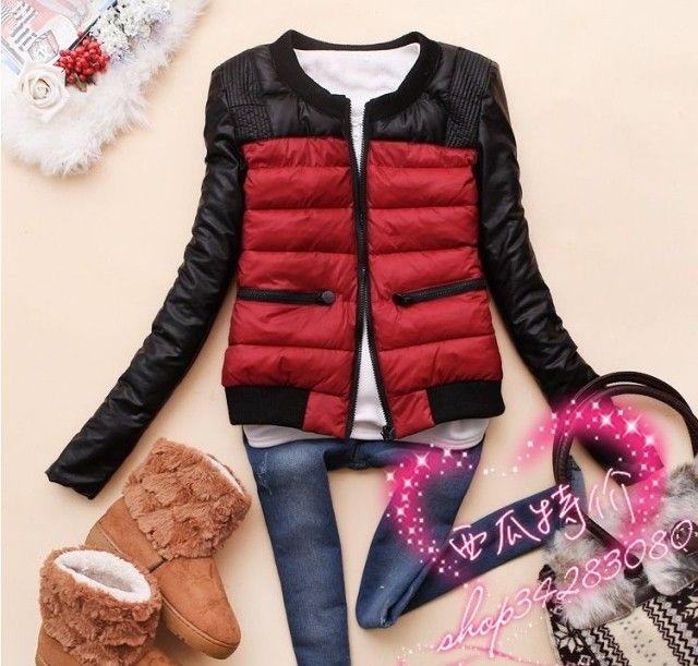 Чан -w829 Корейская версия 2014 новая зимняя женская мода шею теплым искусственная кожа пальто куртки J-28-Taobao