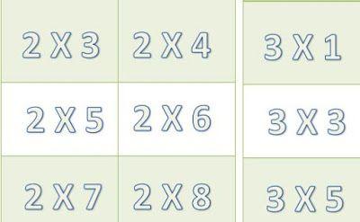 Loteria de las Tablas de Multiplicar