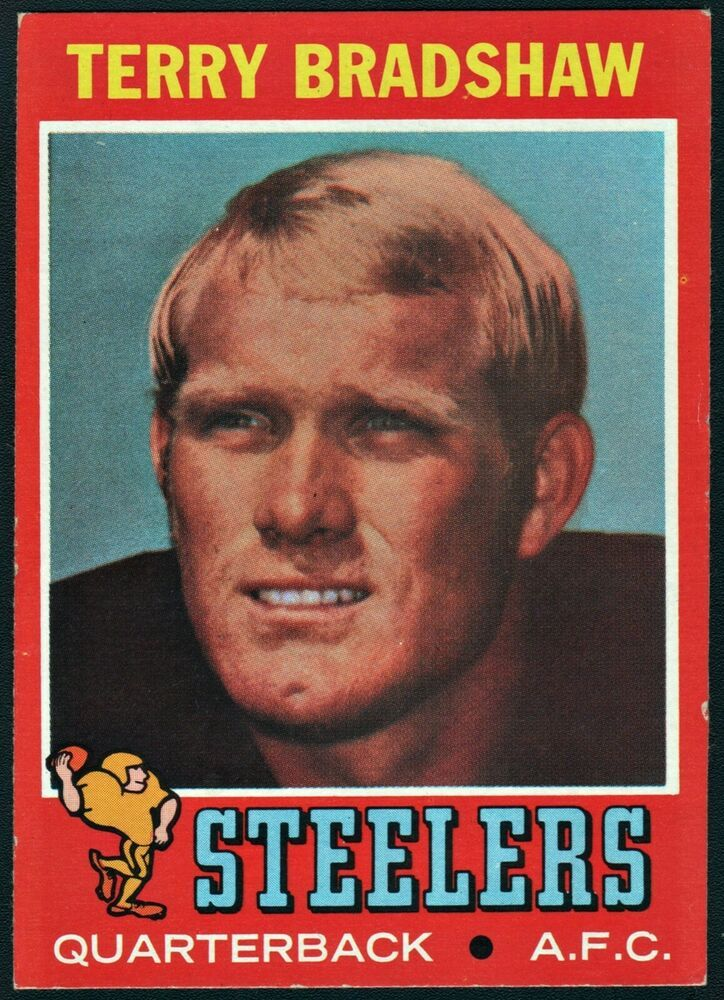 1971 topps terry bradshaw pittsburgh steelers rookie card