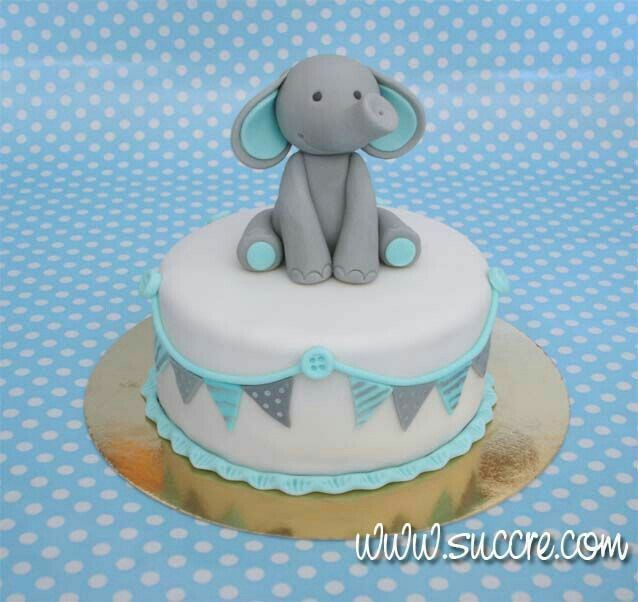 Adorable elephant cake